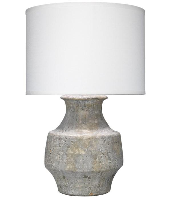 Masonry Grey Table Lamp, Classic Drum