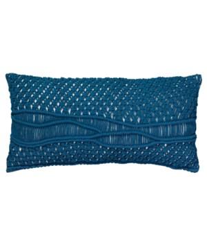 Indio Macrame Blue Pillow