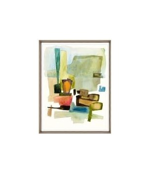 24x31 Roca Colorida III, Glass Framed, 36PUN2622