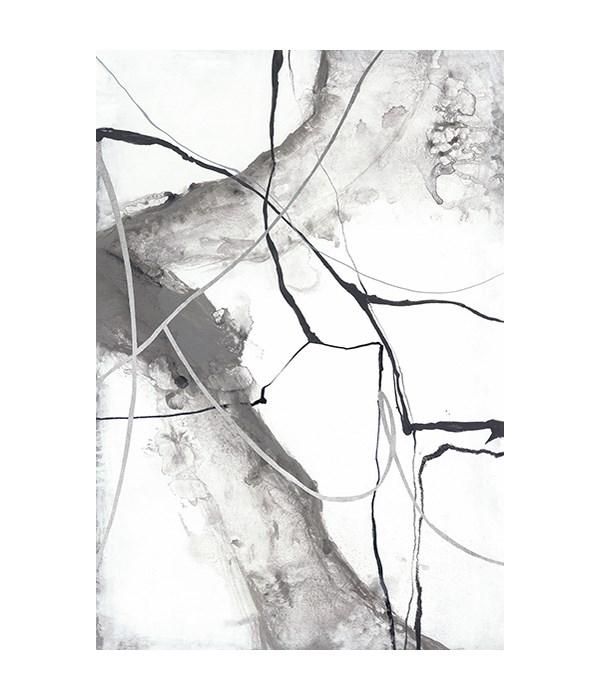 24x35 Gray  Waterfall I, Glass Coat