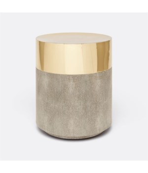 Maxine Realistic Faux Shagreen Sand Stool