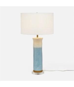 Saxon Soft Blue Ceramic Lamp