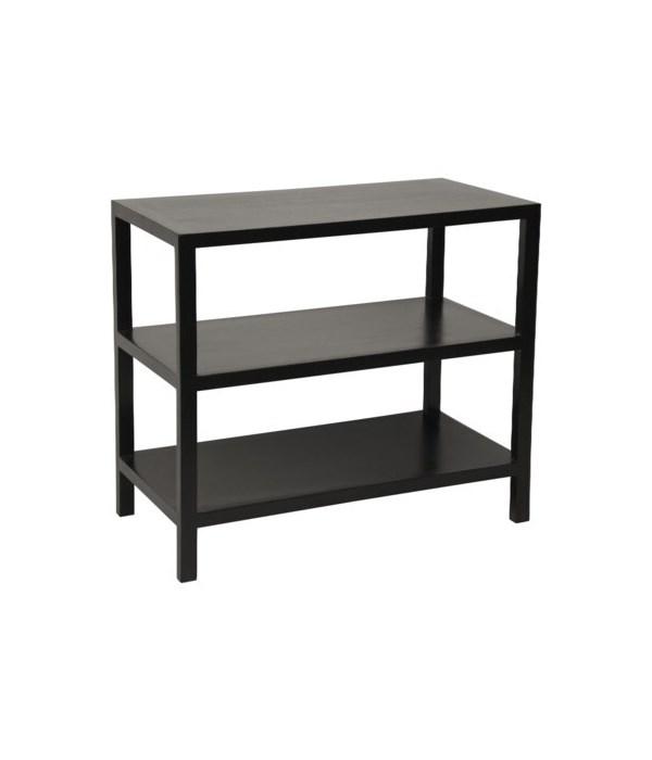 2 Shelf Side Table, Hand Rubbed Black