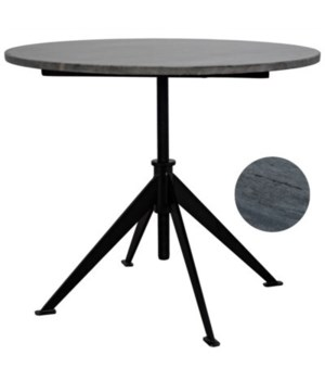 Matilo Adjustable Table, Black Metal Base with Marble Top