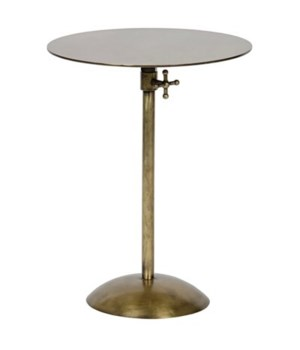 Felix Side Table, Antique Brass