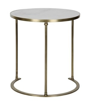 Molly Side Table, A, Metal and Quartz