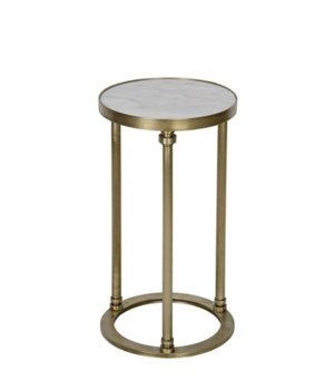 Molly Side Table, C, Metal and Quartz