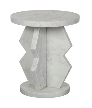 Belasco Side Table, Marble