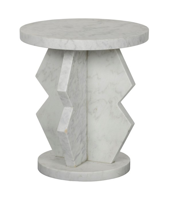 Belasco Side Table, Marble