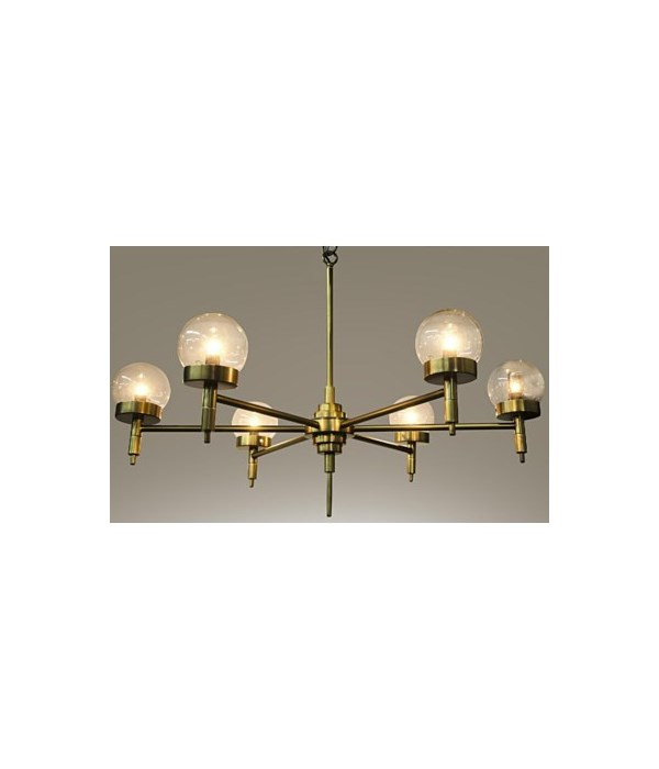 Leslie Chandelier, Antique Brass