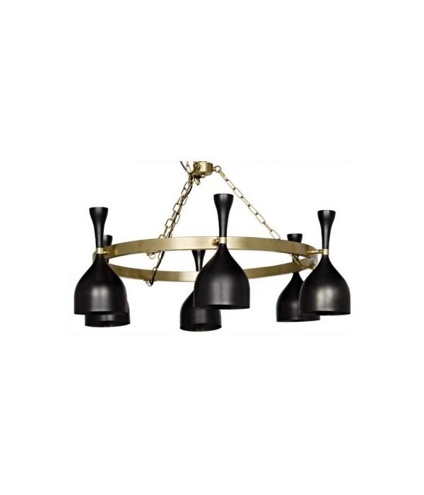 Darwin Chandelier, Antique Brass