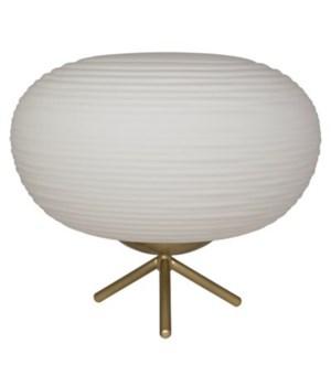 Flip Table Lamp, Antique Brass