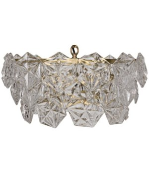 Neive Chandelier, Antique Brass, Small