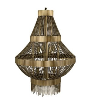 Domo Chandelier, Metal with Brass