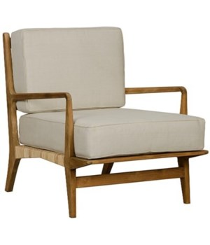 Allister Chair, Teak and Rattan