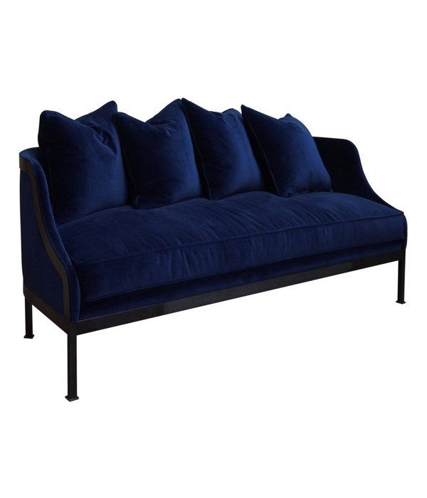 Lotus Sofa, Indigo Velvet, GR B