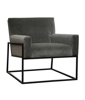 Curtis Chair, Steel Base, Ethos Platinum, Gr D