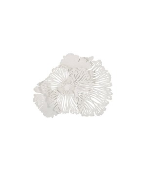 Flower Wall Art White, Small
