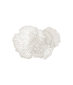 Flower Wall Art White, Medium