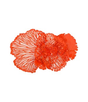 Flower Wall Art, Coral, Medium
