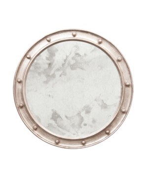 Federal Style Champagne Silver Leafed Mirror