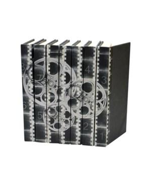 Image Collection, Film Reels, Black & White, Set of 7