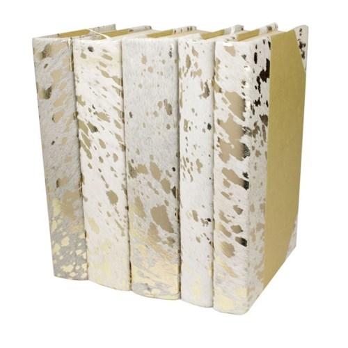 Metallic Hide - White, Gold