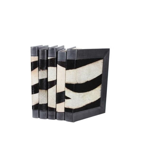 Hide Collection - Zebra w,  Leather Trim