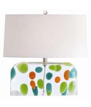Tara Irregular Dot Blown Glass Lamp