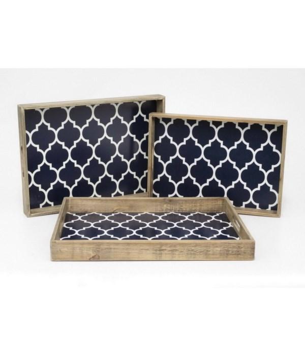 Wood Trays, Set of 3