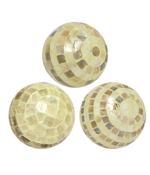 Ceramic Ball Mop Inlay, Assorted, Ivory