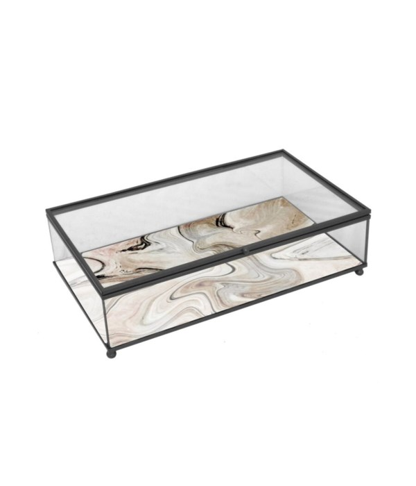 Metal, Glass Box, Black