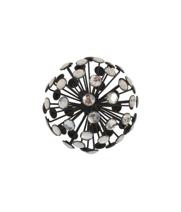 Jeweled Orb, Small, Black