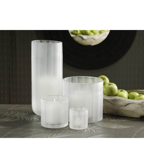 Sand Frosted Glass Votive Candle