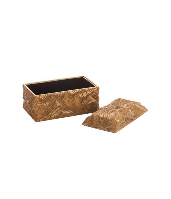 Baroque Antique Gold Leaf Lidded Box