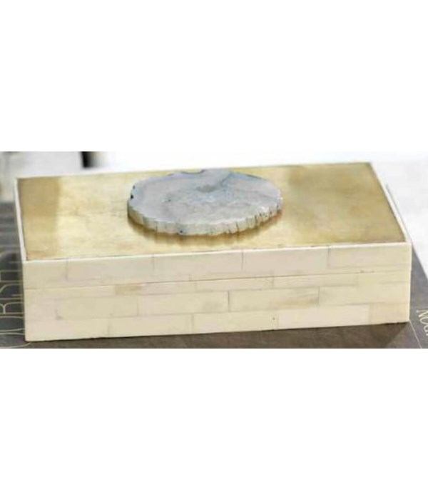 Bali Bone With Agate Box