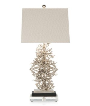 Silver Plated Coral Table Lamp