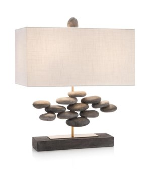 River Rock Accent Table Lamp