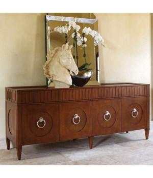 French Key Everything Cabinet, Dark Oak