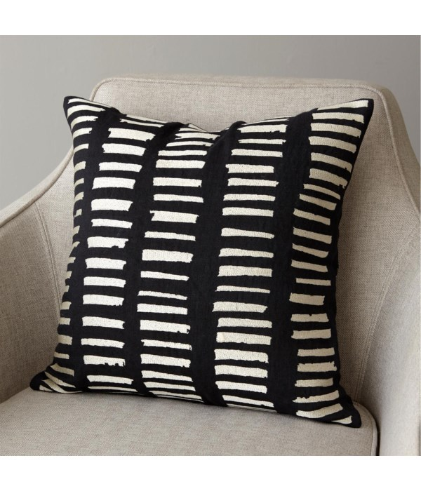 I See You Hear Pillow, Black, Beige