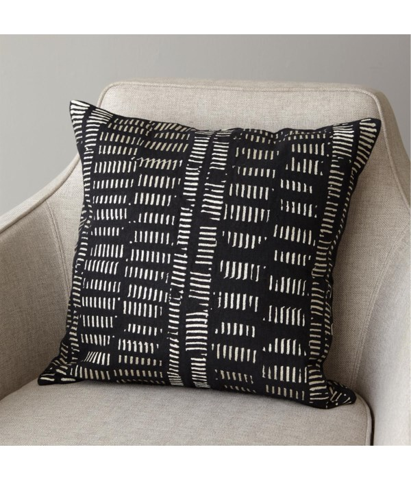 Frequency Pillow, Black, Beige