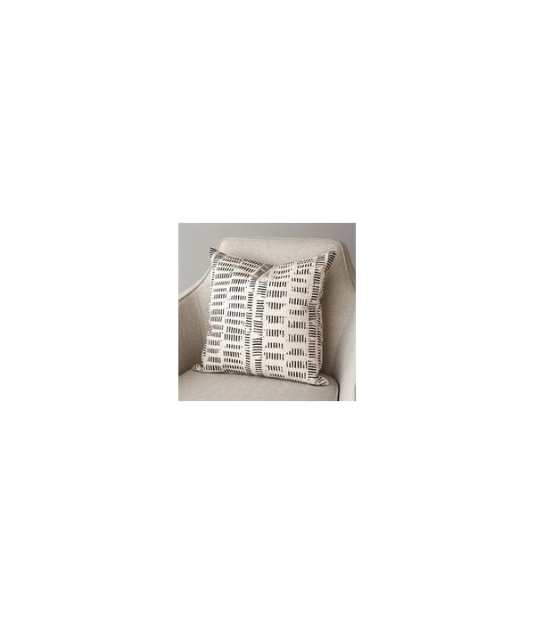 Frequency Pillow, Beige, Black