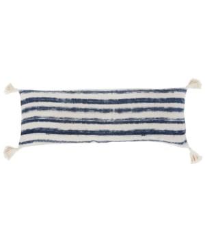 Wyatt Hand Woven Pillow, Indigo