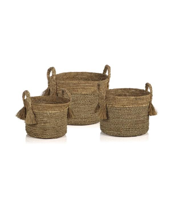 Barletta Seagrass Baskets, Set of 3
