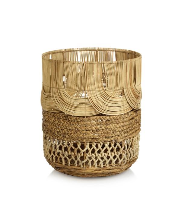 Malacca Multi-Weave Rattan Basket