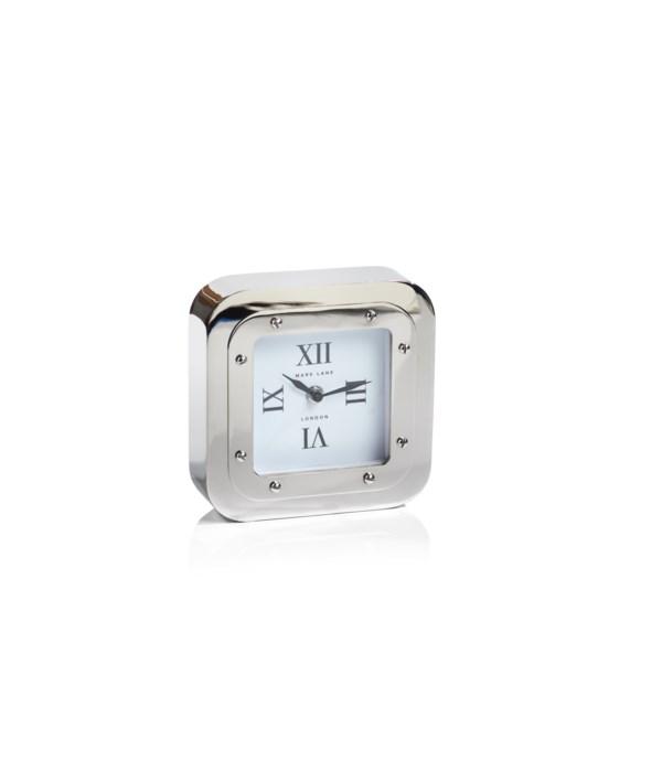Mark Lane Table Clock, Nickel, Large