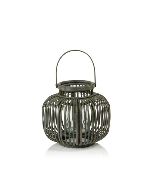 Melanesia Gray Bamboo Lantern, Small