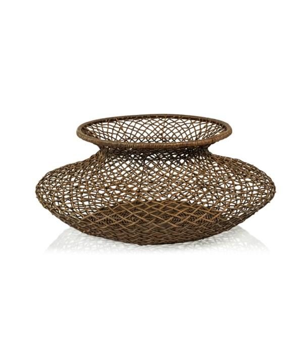 Bastide Loose Weave Rattan Basket/Vase, Light Brown