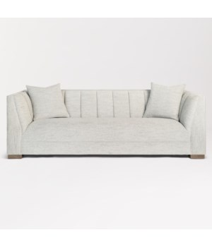 Bryson Sofa, Cosmopolitan Gray and Warm Oak
