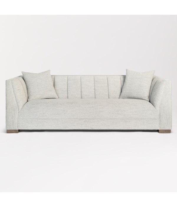 Bryson Sofa, Cosmopolitan Gray and Warm Oak